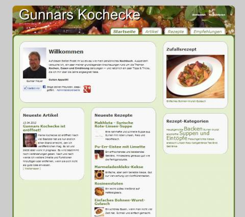 Gunnars Kochecke -Eröffnung BETA